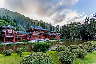 Byodo-In Temple - Byodo-In Temple in Hawai'i is a replica of the historic Byodoin Temple of Uji in Kyoto prefecture of Japan, established in 1052.