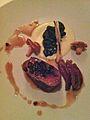 Côte de bœuf, jeune oignon et pomme de terre fumée à la sauce périgueux.jpg