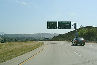 Moorpark, California - SR 118 just before the intersection with SR 23 in Moorpark