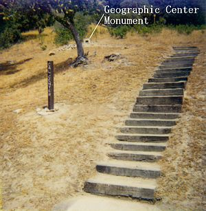 North Fork, California - Image: CA geographic center monument