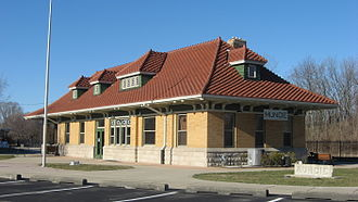 National Register of Historic Places listings in Delaware County, Indiana - Image: CR&M Depot in Muncie