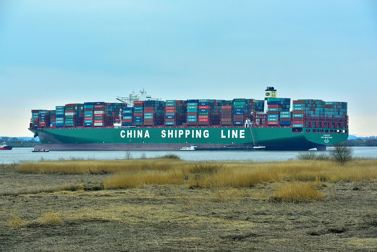 Largest Cargo Ship >> CSCL Indian Ocean - Wikipedia