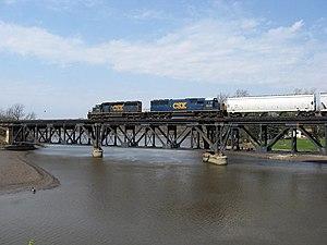 CSX Plymouth Subdivision - Thornapple River bridge on CSX Plymouth Subdivision
