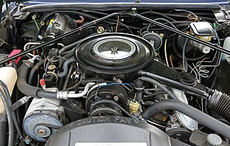 Cadillac High Technology engine - Image: Cadillac 4100 V8 engine in Eldorado