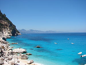 English: cala goloritzè sardinia east coast ge...
