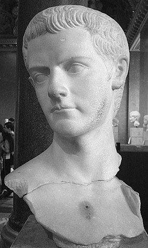 Bust of Gaius Caligula, emperor 37-41 AD. The ...