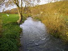 La Calonne (rivière), affluent de la Touques à Saint-Pierre-de-Cormeilles.