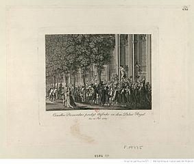Motion faite au Palais Royal par Camille Desmoulins