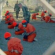 Extrajudicial detention of captives in Guantanamo Bay.