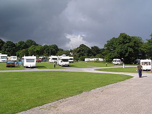 A campsite in Tralee, Ireland, with Campers an...