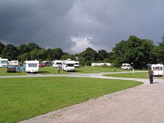 RV park - A European town campground in Tralee, Ireland