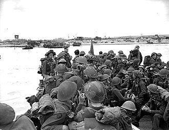 Canada–France relations - Royal Canadian Navy landing in Normandy; June 1944.