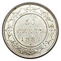 Canada Newfoundland Victoria 50 Cents 1882-H (rev).jpg