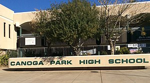 Canoga Park High School - The main entrance to the school
