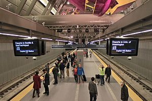 Capitol Hill Station platform on opening day, March 19, 2016 - 01.jpg