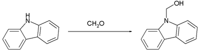 reaction of carbazole with formaldehyde to Carbazol-9-yl-methanol