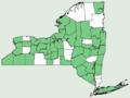 Carex digitalis var digitalis NY-dist-map.png