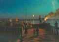 Carl Locher - Sankt Hans aften på Skagen Havn - 1887.png