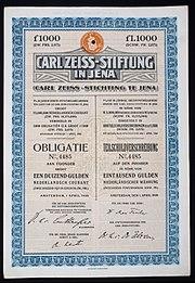 Carl Zeiss-Stiftung 1926