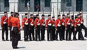 The Fort Henry Guard performing an historical demonstration