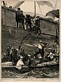 Carlist War, Spain; Spanish sick and wounded being carried o Wellcome V0015486.jpg