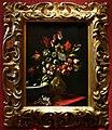 Carlo dolci, vaso di fiori in un vaso con stemma medici e bacile di ceramica, 1662, dipinto per la morte del card. giovan carlo 01.jpg