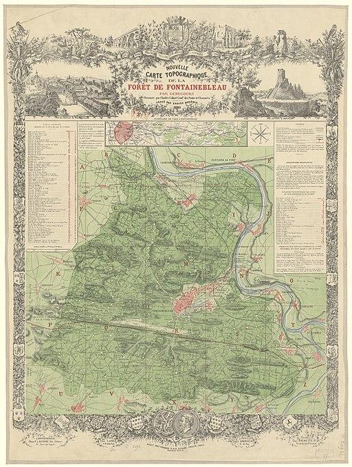 Carte topographique de la forêt de Fontainebleau - 1895 - btv1b530291367