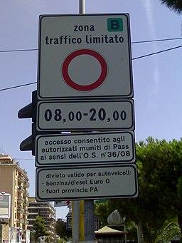 Cartello ZTL Palermo