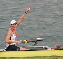 Caryn Davies after winning Gold in the Beijing Olympics.jpg