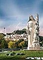 Cascia e nuova statua Santa Rita.jpg