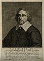 Caspar van Baerle (Barlæus). Line engraving by P. Sluyter. Wellcome V0000291.jpg