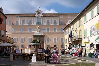 Castel Gandolfo - The façade of the Papal Palace.