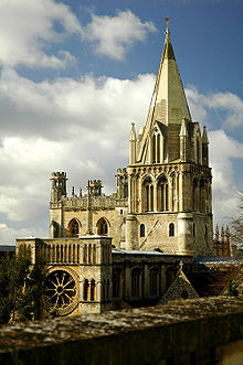 Photograph of Christ Church Cathedral, the cathedral of the diocese of Oxford which also serves as the chapel of Christ Church College of the University of Oxford