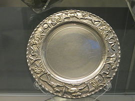 Small silver plate from the Caubiac Treasure