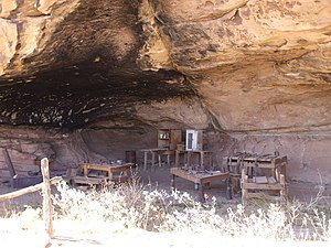 National Register of Historic Places listings in San Juan County, Utah - Image: Cave Springs Cowboy Camp