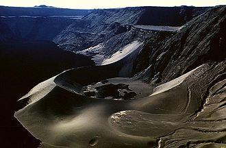 Cerro Azul (Ecuador volcano) - A large tuff cone occupying the east-northeast side of summit caldera