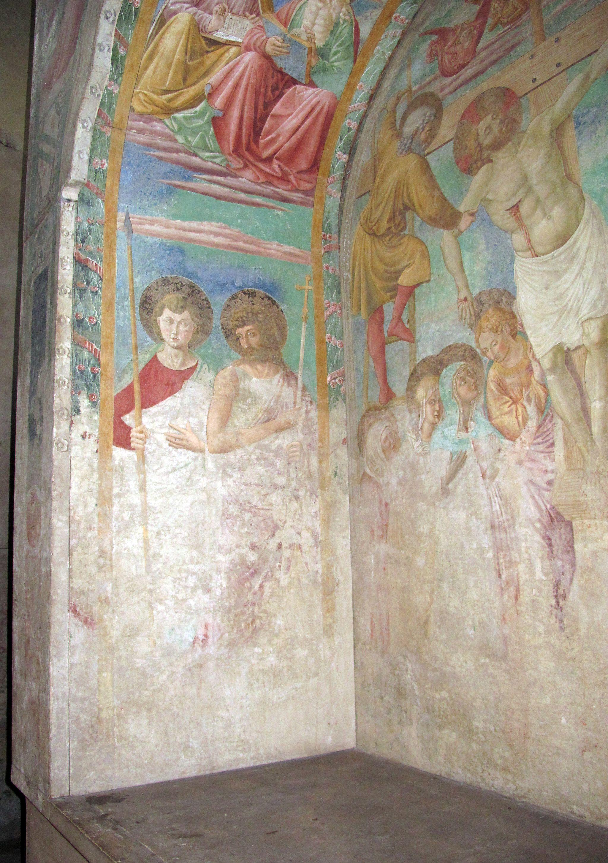 Certaldo alta, santi tommaso e prospero, tabernacolo dei giustiziati 10