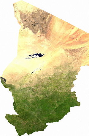 Geography of Chad - A satellite image of Chad.
