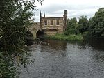 Chantry Bridge Chapel Wakefield West Yorkshire, circa 1342 - 1356. Built on the banks of the River Calder..jpg