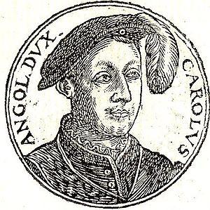Charles II de Valois, Duke of Orléans - Charles II from Guillaume Rouillé's Promptuarii Iconum Insigniorum