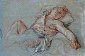 Charles de la Fosse - The Sleeping Rinaldo, 1686, black, red, and white chalk.jpg