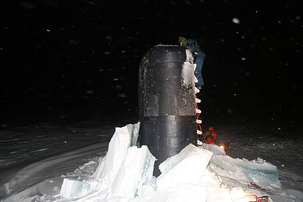 USS Charlotte at the North Pole in 2005 Chralotte Northpole.jpg