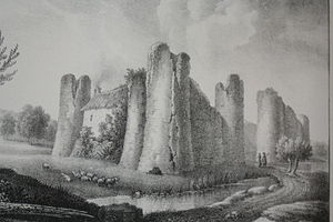 Godefroy Engelmann - Godefroy Engelmann, Courcy Castle, lithograph, 1826