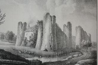 Godefroy Engelmann - Godefroy Engelmann, Courcy Castle, lithograph, 1826