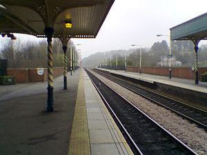 Chesterfield railway station - Platform 1 Facing North