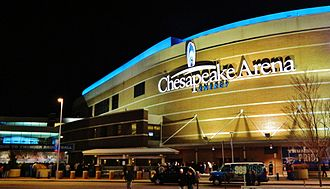 Chesapeake Energy Arena - Image: Chesapeake energy arena night