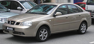 Chevrolet Sales India - The Daewoo Lacetti is sold as the Chevrolet Optra in India.