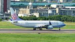 China Airlines Boeing 737-8MA B-18656 Taking off from Taipei Songshan Airport 20160821a.jpg