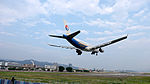 China Eastern Airlines Airbus A330-343X B-6125 on Final Approach at Taipei Songshan Airport 20150221.jpg
