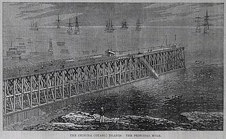 Chincha Alta - A bay in Chincha, 1863